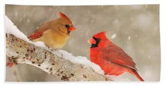 Northern Cardinals Bath Towel