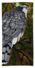 Northern Goshawk Hand Towel by Rick Bainbridge