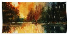 Northern Sunset Bath Towel