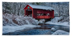 Northfield Vermont Covered Bridge Hand Towel
