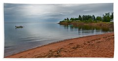 Northumberland Shore Nova Scotia Red Sand Beach Hand Towel
