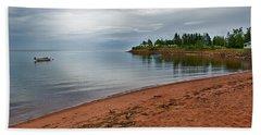 Northumberland Shore Nova Scotia Red Sand Beach Bath Towel