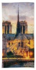 Notre Dame De Paris Hand Towel