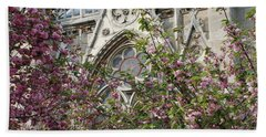 Hand Towel featuring the photograph Notre Dame In April by Jennifer Ancker