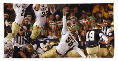 Notre Dame Versus Navy Hand Towel by Mountain Dreams