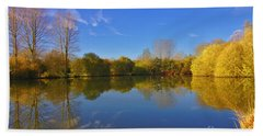 Bath Towel featuring the photograph November Lake 1 by Jeremy Hayden