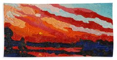 November Sunset Hand Towel by Phil Chadwick