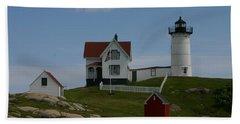 Bath Towel featuring the photograph Nubble Light House York Maine by Denyse Duhaime