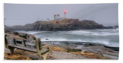 Nubble Lighthouse View Bath Towel