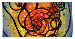 Nuclear Fusion Bath Towel by Regina Valluzzi