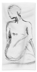 Nude Model Gesture Vi Bath Towel