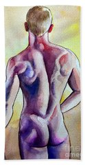 Nude Naked Muscle Male Back Hand Towel