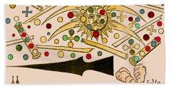 Nuremberg Ufo 1561 Hand Towel