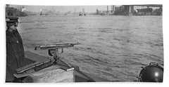 Nyc Prohibition Police Boat Bath Towel