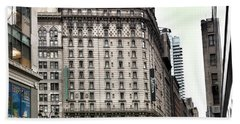 Nyc Radisson Hotel Bath Towel by Susan Garren