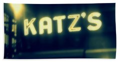 Nyc's Famous Katz's Deli Bath Towel