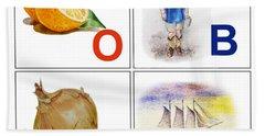 O Boy Art Alphabet For Kids Room Hand Towel