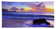 Oahu Sunrise Hand Towel by Dustin  LeFevre