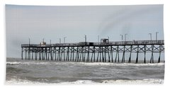 Oak Island Beach Pier Hand Towel