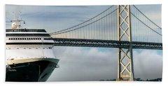 Oakland Bay Bridge  Bath Towel