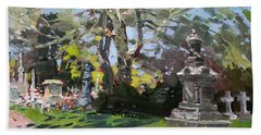 Oakwood Cemetery Bath Towel