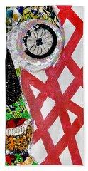 Bath Towel featuring the tapestry - textile Obaoya by Apanaki Temitayo M
