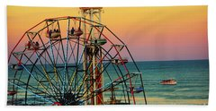 Ocean City Nj Wonder Wheel And Double Shot Bath Towel