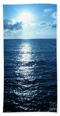 Hand Towel featuring the painting Ocean Fall by Fei A