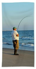 Hand Towel featuring the photograph Ocean Fishing by Cynthia Guinn
