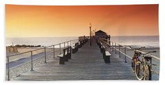 Ocean Grove Jetty In Nj Bath Towel