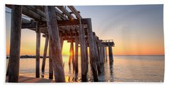 Ocean Grove Pier Sunrise Hand Towel