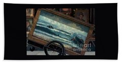Bath Towel featuring the photograph Ocean On Wheels Artist Cart At Jackson Square New Orleans La Usa by Michael Hoard