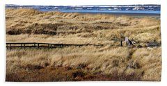 Hand Towel featuring the photograph Ocean Shores Boardwalk by Jeanette C Landstrom