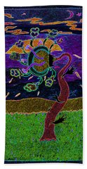 Ocean Side Flower At Sun Set    V3 Hand Towel