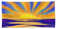 Ocean Sunrise Bath Towel