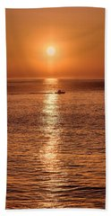 Ocean Sunrise At Montauk Point Hand Towel