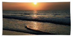 Ocean Sunrise Over Myrtle Beach Hand Towel