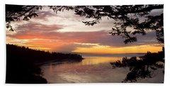 Ocean Sunset Deception Pass Bath Towel