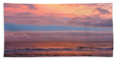 Bath Towel featuring the photograph Ocean Sunset by Jeremy Hayden