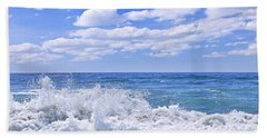 Ocean Surf Bath Towel by Elena Elisseeva