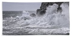 Ocean Surge At Gulliver's Hand Towel by Marty Saccone