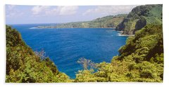 Ocean View From The Road To Hana, Maui Hand Towel