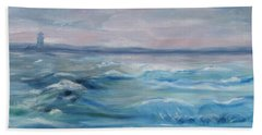 Hand Towel featuring the painting Oceans Of Color by Diane Pape