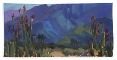 Ocotillos At Smoke Tree Ranch Hand Towel by Diane McClary
