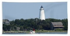Ocracoke Light Hand Towel by Christiane Schulze Art And Photography