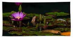 October Lilies 2 Hand Towel