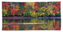 Hand Towel featuring the photograph October's Colors by Dianne Cowen