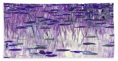 Ode To Monet In Purple Hand Towel