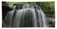 Odom Creek Waterfall Georgia Hand Towel by Charles Beeler