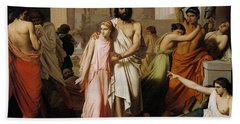 Oedipus And Antigone Or The Plague Of Thebes  Bath Towel